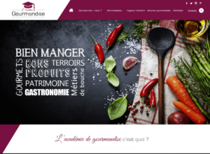 Création site internet de l'Académie de Gourmandise