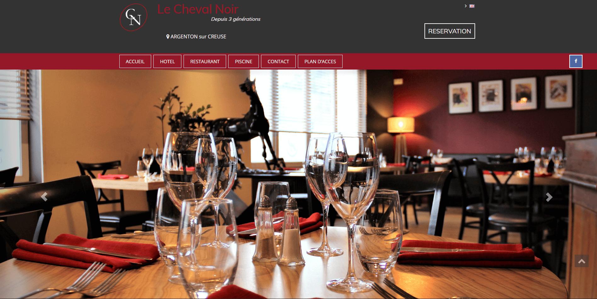 Création site internet Le Cheval Noir